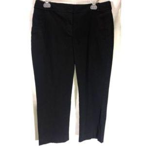 Ann Taylor Loft Julie Pants Size 10 Black Capri